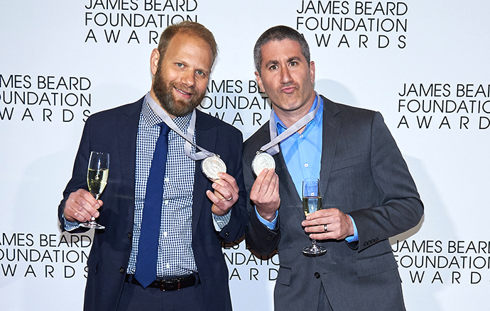 JBF Award winners Steven Cook and Michael Solomonov