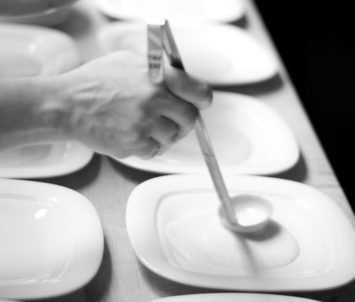 Plating in the James Beard House kitchen