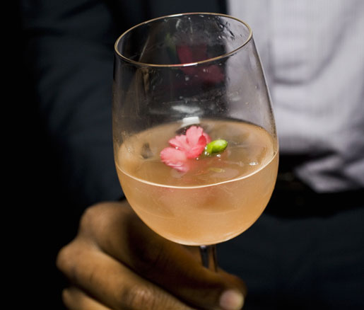 A cocktail at the James Beard House