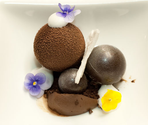 chocolate dessert at the James Beard House