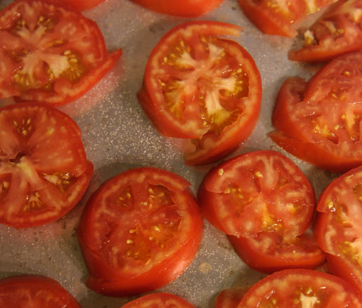tomatoes at James Beard House