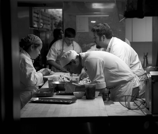 behind the scenes in the Beard House kitchen