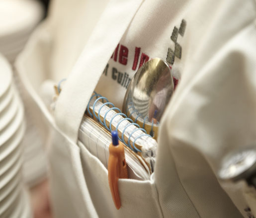 A volunteer's pocket at the James Beard House