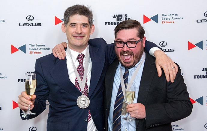 Dave Arnold and Sean Brock at the 2015 JBF Book, Broadcast & Journalism Awards
