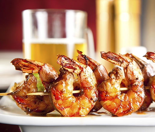 Barbecued Shrimp with Pineapple Chutney