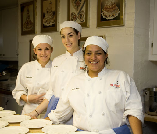 Volunteers from the Institute of Culinary Education