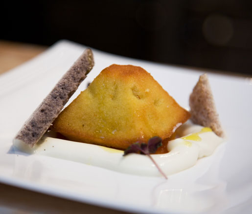 Recipe for Ravani Semolina Cake with Olive Oil, adapted by the James Beard Foundation