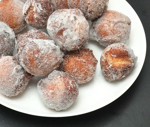 Stephanie Izard's recipe for Portuguese malasadas, adapted by the James Beard Foundation
