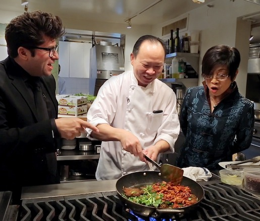 Billy Harris and Peter Chang in the Beard House kitchen