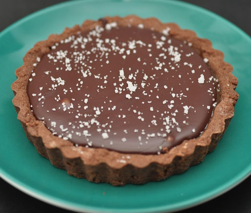 Michael Reardon's chocolate–caramel tartlets with fleur de sel