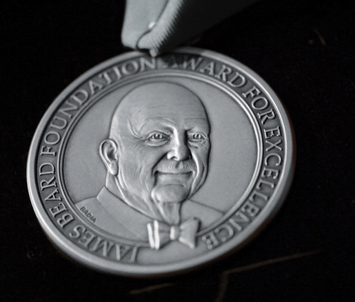 The James Beard Awards silver medallion