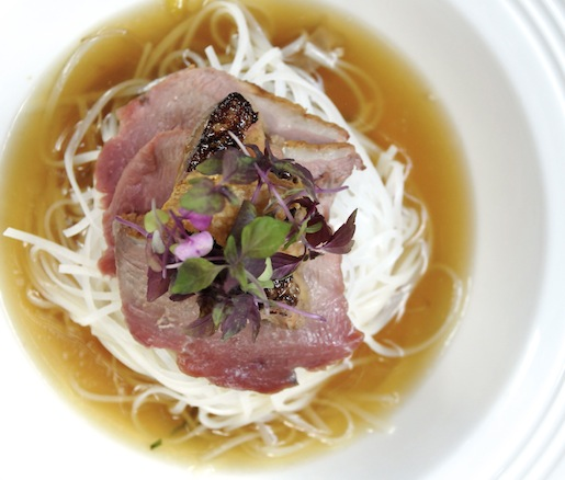 Leah Cohen's Duck Pho with Seared Foie Gras