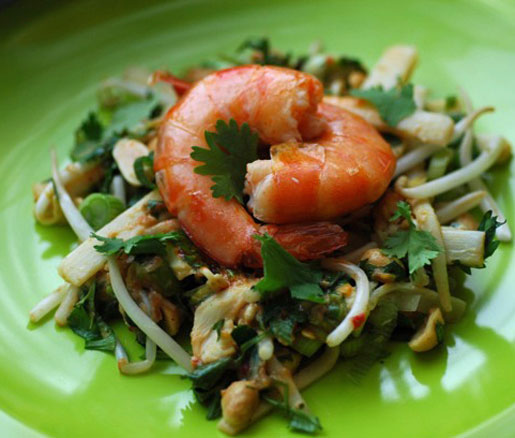 Recipe for Hawaiian Hearts of Palm Pad Thai, adapted by the James Beard Foundation