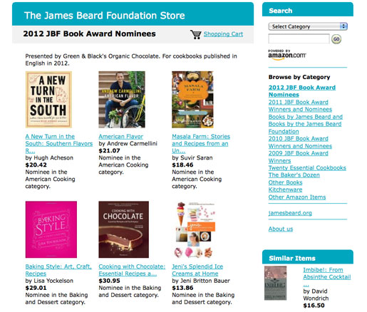 The James Beard Foundation Amazon store