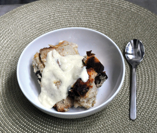 Panettone Bread Pudding recipe, courtesy of the James Beard Foundation