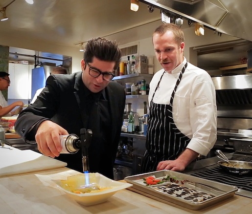 Billy Harris and chef Daniel Causgrove