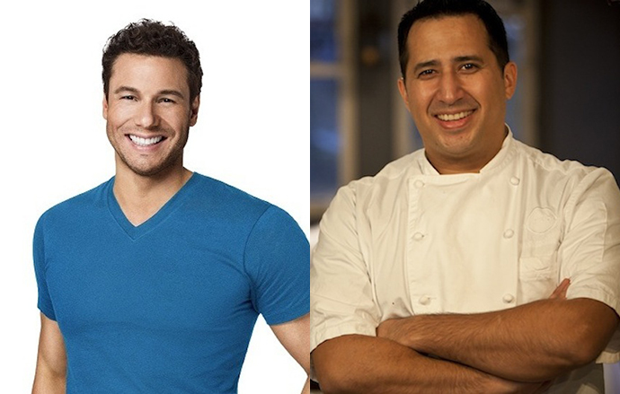 Rocco DiSpirito and Christopher Lee