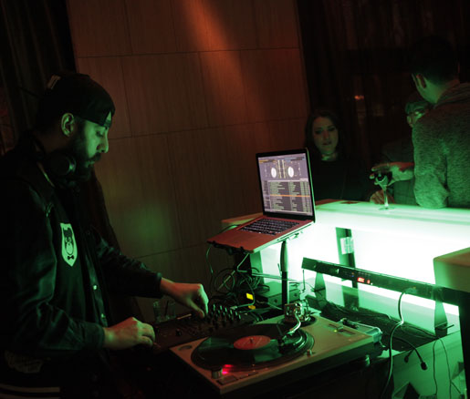 El Media Group provided the soundtrack to the James Beard Foundation Greens launch party.