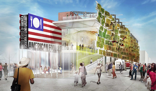 The future American Pavilion at Expo Milano