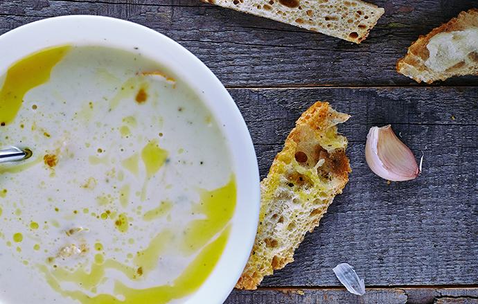 Recipe: James Beard's Garlic Soup   James Beard Foundation