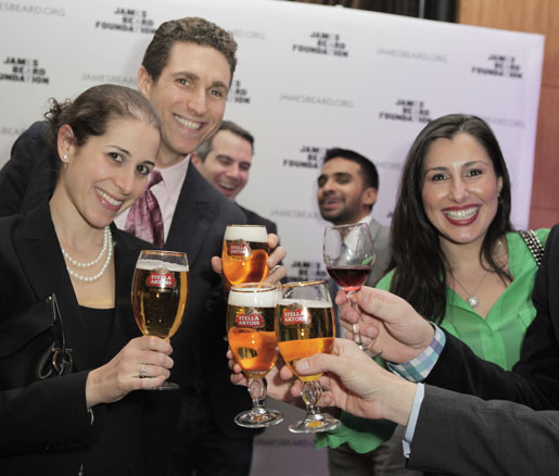 James Beard Foundation Greens drank chalices of Stella Artois beer.