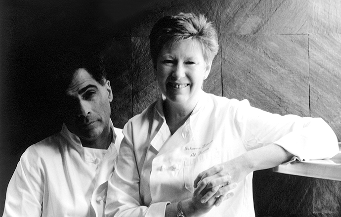 This photo of George Germon and Johanne Killeen ran in promotion of their Beard House dinner in 2001