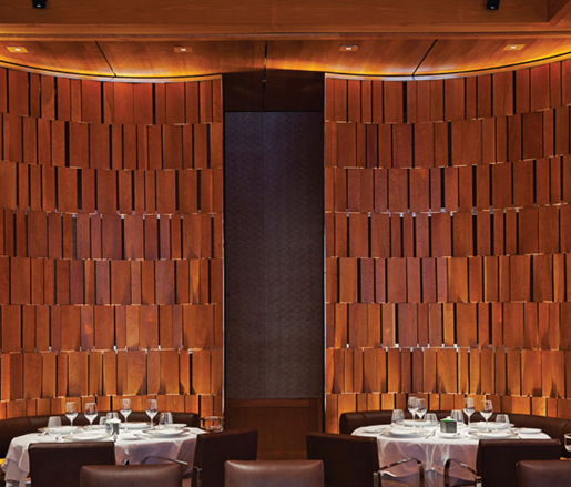 New York City's Le Bernardin, designed by Bentel & Bentel