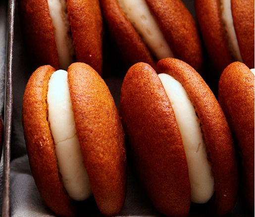 Pumpkin Whoopie Pies with Vanilla–Cream Cheese Filling
