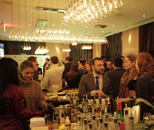 The James Beard Foundation Greens gathered at the trendy Bar 75 at the Andaz Wall Street hotel.