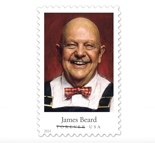 The official James Beard stamp