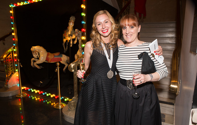 Christina Tosi and Mindy Segal at the 2015 James Beard Awards