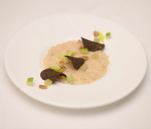 David Posey's Celery Risotto alla Waldorf, the winning dish of the Taste of Waldorf competiion