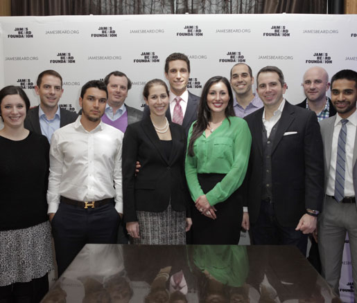 Members of the James Beard Foundation's Young Professionals Committee pose for a group photo.