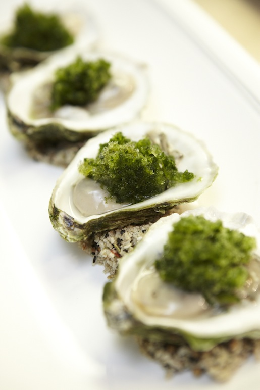 Chilled Sandy Neck Oysters with Thai Chili–Cilantro Granité