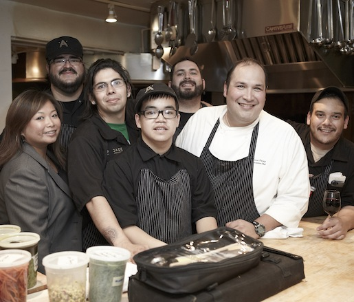 Jesse T. Perez and his team at the James Beard house