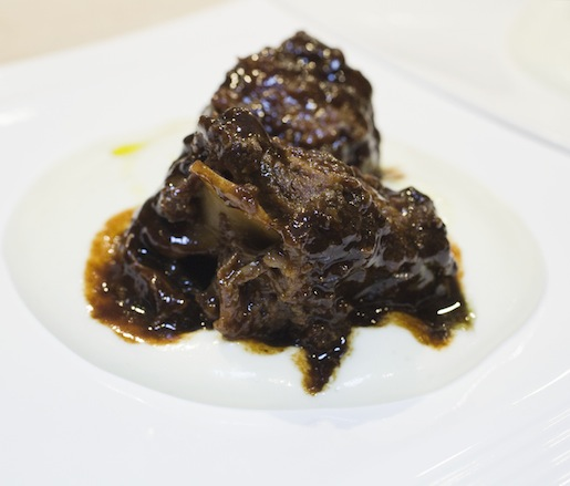 Braised Oxtail with Potato Purée and Vanilla Oil
