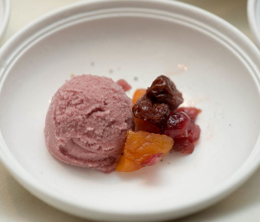 Williamsburg Winery Trianon Cabernet Franc Sorbet with Autumn Fruits