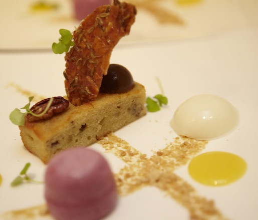 Concord Grapes and Aged Goat Cheese with Sweet Mustard
