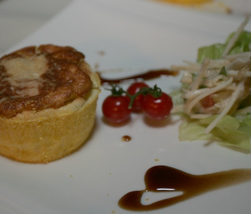 The Soufflé > Parmesan Soufflé with Waldorf Salad