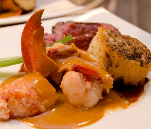 Delmonico's Akaushi Filet Mignon and Butter-Poached Maine Lobster Newburg with Truffled Brioche