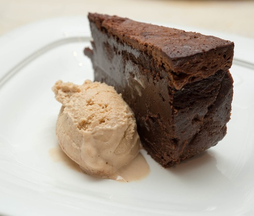 Flourless Boca Negra Cake with Gingered Dulce de Leche Ice Cream