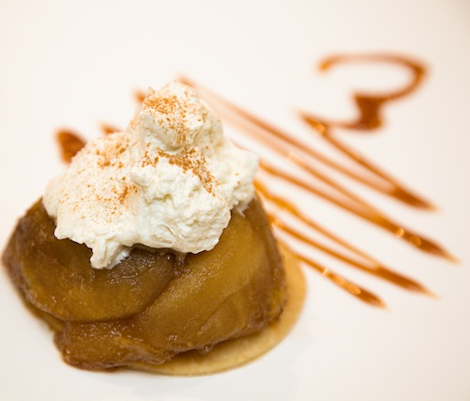 Washington Granny Smith Apple Tarte Tatin with Vanilla Bean Crème