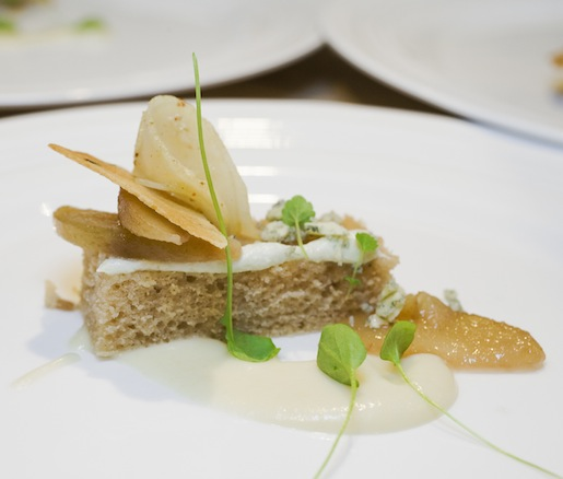 Pear Textures with Bayley Hazen Blue Cheese