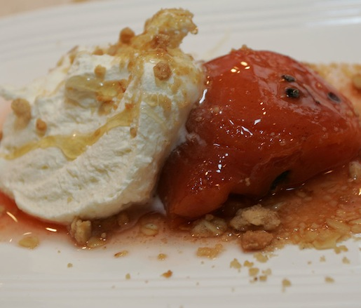 Hudson Valley Pear–Apple Crumble with Ronnybrook Farm Dairy Vanilla Ice Cream