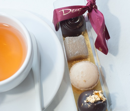 Take-Home Gift > Duck Fat Pâtés de Fruits, Chai Truffles, Earl Grey Bonbons, and Apple–Caramel Macaroons