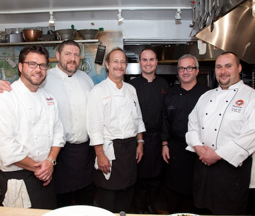 The chefs and their team in the Beard House kitchen