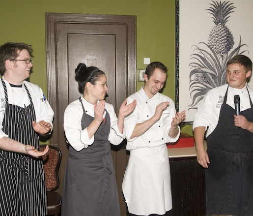 Chef Ross Warhol and his crew at the Beard House