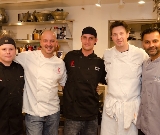 The chef team in the Beard House kitchen