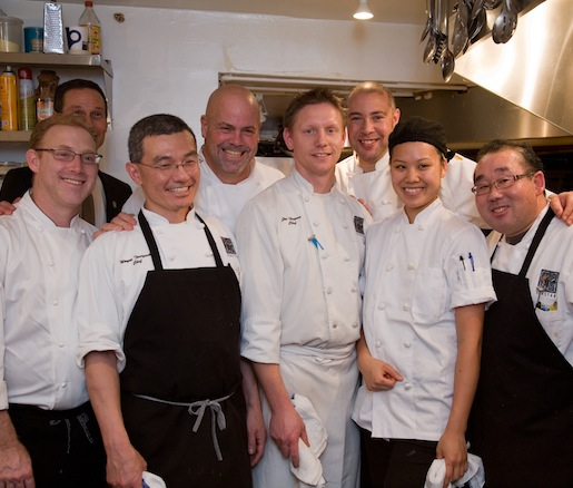 Chef John Howie and his team in the Beard House kitchen