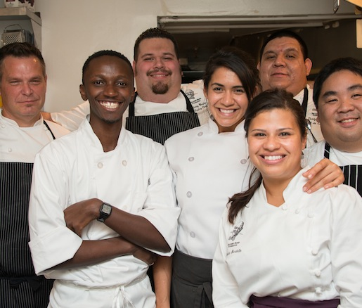 Chef Ronnie Killen and his team in the Beard House kitchen